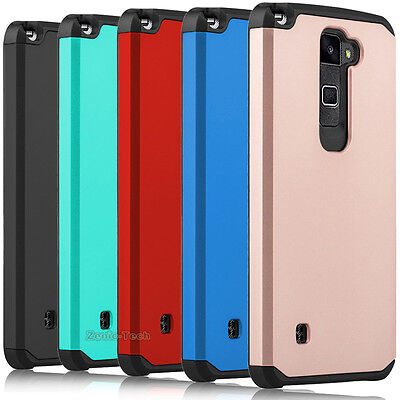 a9064a6fc8073d For LG Stylus 2 Plus Stylo 2 Plus Case Shockproof Armor Hybrid Rubber Back  Cover