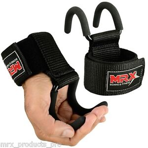 MRX Power Weight Lifting Training Gym Hook Grips Straps ...
