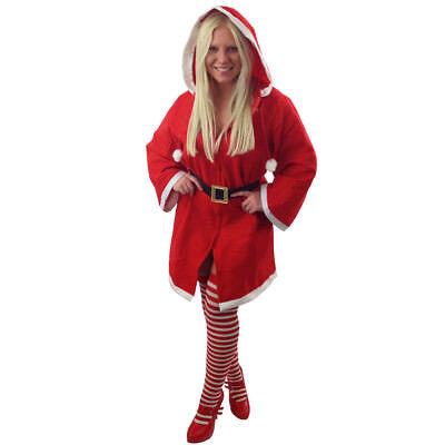 SEXY WEIHNACHTSMANTEL MIT REIßVERSCHLUSS FÜR FRAUEN SEXY SANTA KOSTÜM IN EINER - Sexy Santa Kostüm Frauen