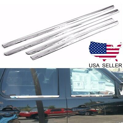 For 2007-2014 Chevy Tahoe Suburban Stainless Steel Window Door Sill Trims