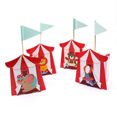 12Pcs/lot Circus Candy Box Theme Party Supplies Cartoon Kids Party Decorations - Carnival Supplies