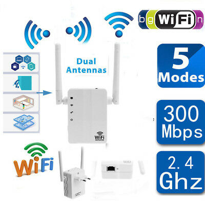 300Mbps Wireless N Range Extender Wifi Repeater Signal Booster Network Router Ho