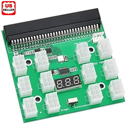 12 X 6Pin Power Supply Adapter HP Server GPU LED 12V Breakout Board Converter Computer Cables & Connectors