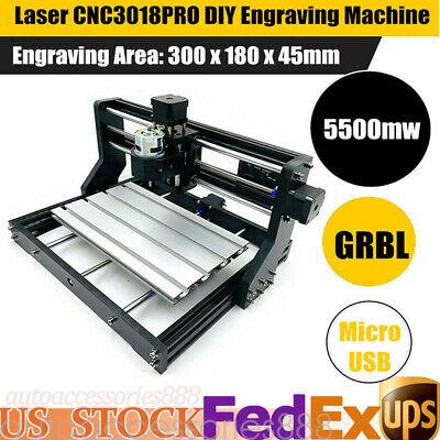 5500mw 3d Cnc Laser Engraving Cutting Machine Engraver Cnc Diy Logo Mark Printer