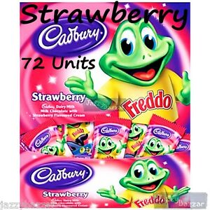Cadbury Freddo Frogs Strawberry Dairy Milk Chocolate 72 Wholesale Bulk Box