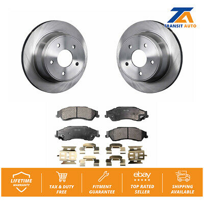 Rear Disc Rotors & Ceramic Brake Pads Fits Chevrolet S10 Blazer GMC Sonoma Jimmy