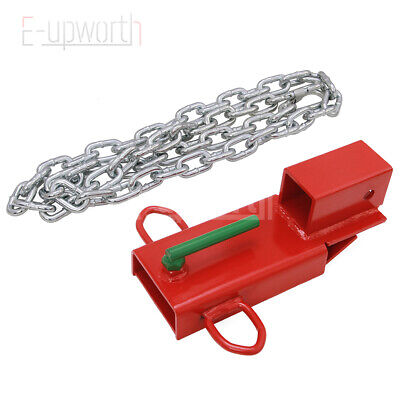2 Insert Clamp On Forklift Hitch Receiver Pallet Fork Trailer Towing Adapter