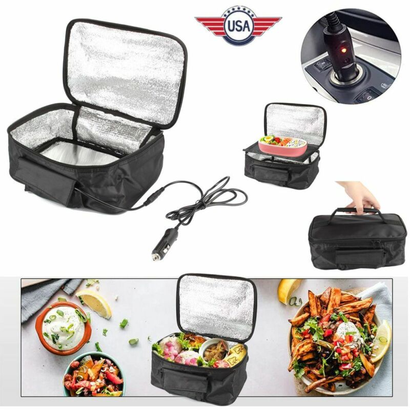 Portable Electric Heating Lunch Box 12V Food Warmer Mini Microwave Oven for Car