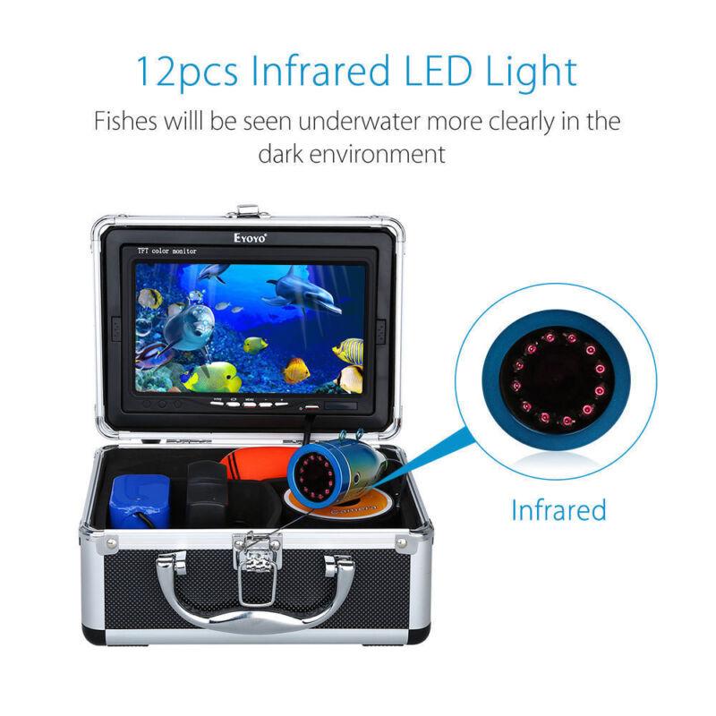 "EYOYO 7"" LCD Display FishFinder 12 LED Underwater 15M Camera With Light Control"