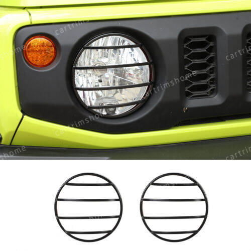Black Bestmotoring ABS Headlight Decoration Covers Trim 2 PCS for 2018 Jeep Wrangler JL