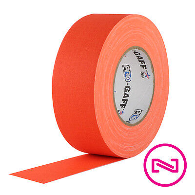 Protapes Pro Gaff Neon Orange Gaffers Tape 2 X 55 Yd Roll