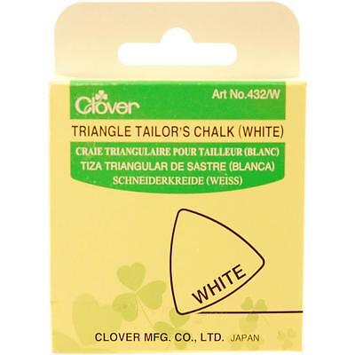 Clover Triangle Tailor's Chalk WHITE #432 W Sewing Quilting Notions
