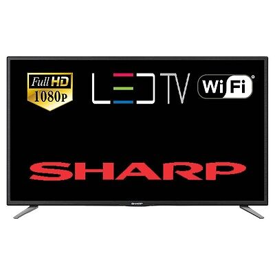 "Sharp Aquos LC-43CFE6131K 43"" Smart LED TV Full HD 1080p Freeview HD Wi-Fi HDMI"
