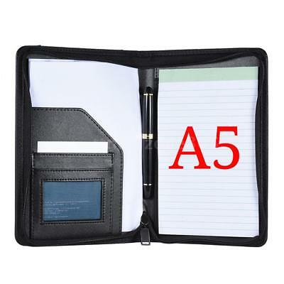 Zip A5 Pu Memo Note Pad Folder Paper File Holder Document Organizer Office D6w4