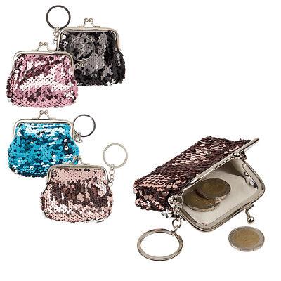 Geldbörse am Schlüsselanhänger mit Pailletten Glitzer Fashion Style Geldbeutel