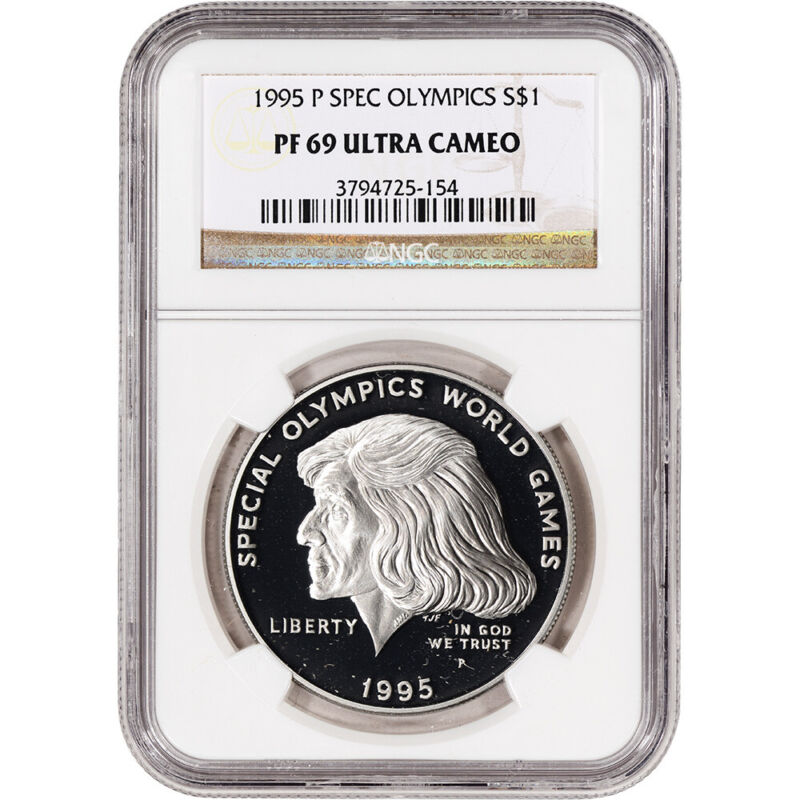 1995-P US Special Olympics Commemorative Proof Silver Dollar - NGC PF69 UCAM