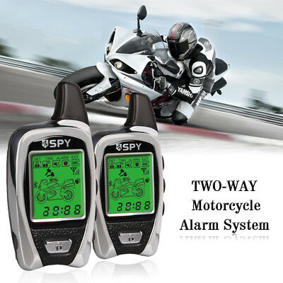 LCD TWO-WAY Motorcycle Alarm System SPY 5000m Transmitters Remote Engine Start