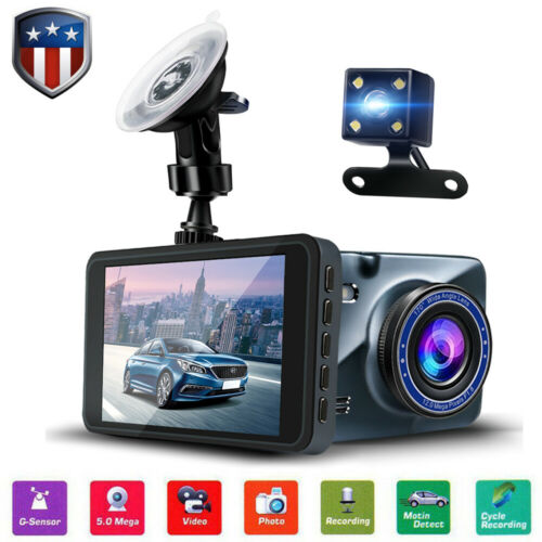 "4"" Vehicle 1080P HD Car Dashboard DVR Camera Dash Cam Loop R"