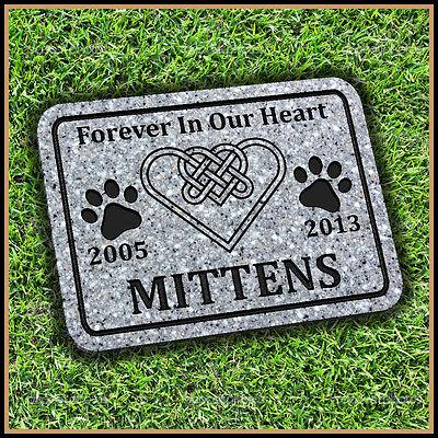 "Pet Memorial Grave Marker  9"" x 12"" Infinity Heart Dog Cat Headstone Gravestone"