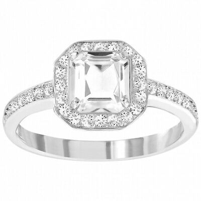 Swarovski Square Solitaire Engagement Ring ATTRACT LIGHT (XLarge/60/9) #5140106