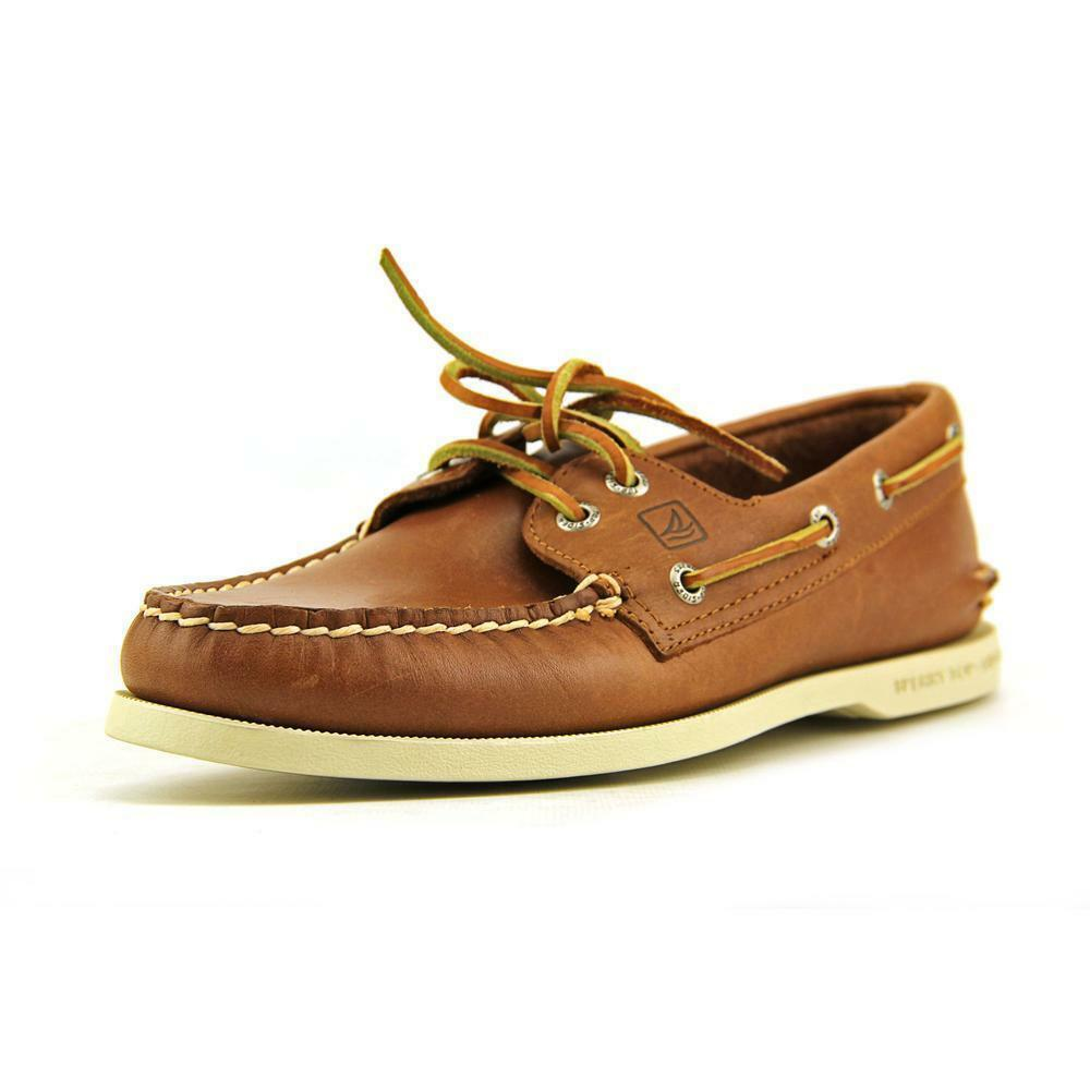 Sperry Top Sider A O 2 Eye Mens Tan Moc Leather Boat Shoes Size Uk 6