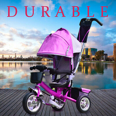 Dreirad Kinder mit Dach Lenkstange Kinderdreirad Fahrrad Baby Safe Dreiräder