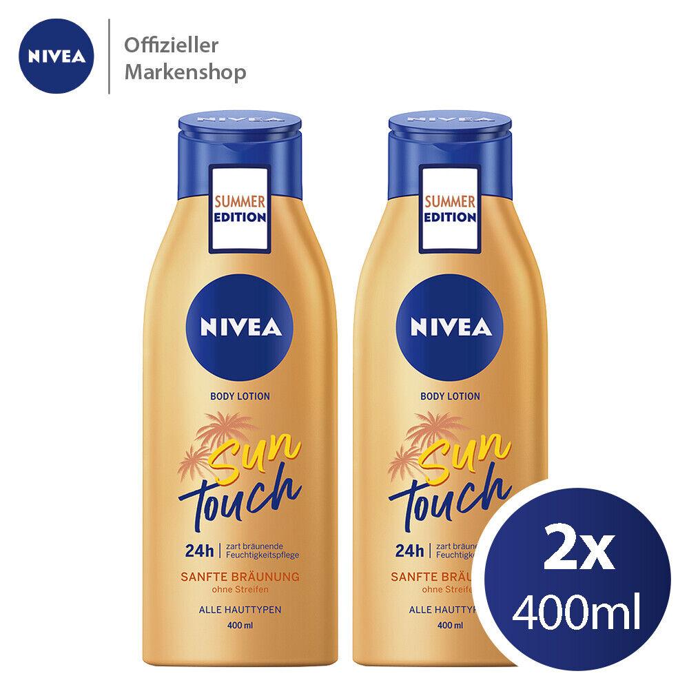 2x400ml NIVEA Body Lotion Sun Touch für eine natürliche Bräune alle Hauttypen