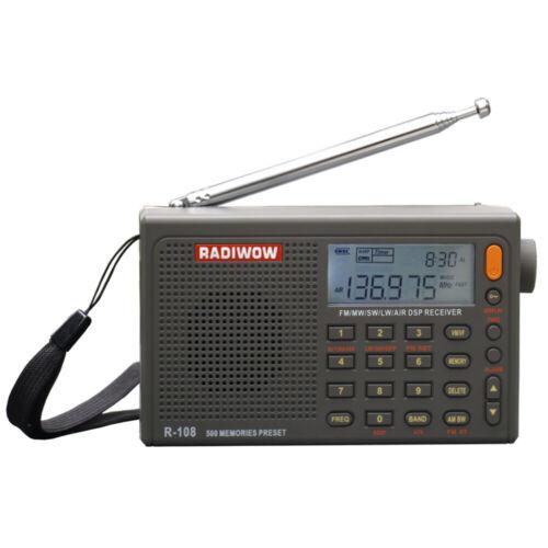 RADIWOW R-108 Portable Radio FM Stereo LW SW MW AIR ATS DSP