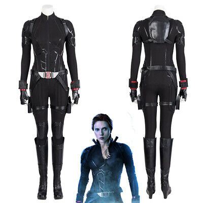 Avengers Endgame Natasha Romanoff Black Widow Cosplay Costume Full Suit (Black Widow Cosplay)