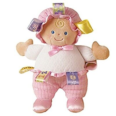 56540 Taggies Doll Soft Toy Signature Pink Plush Babies Comforter