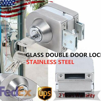 Glass Door Showcase Metal Screw Mounted Security Lock 10mm-12mmmm Thickness