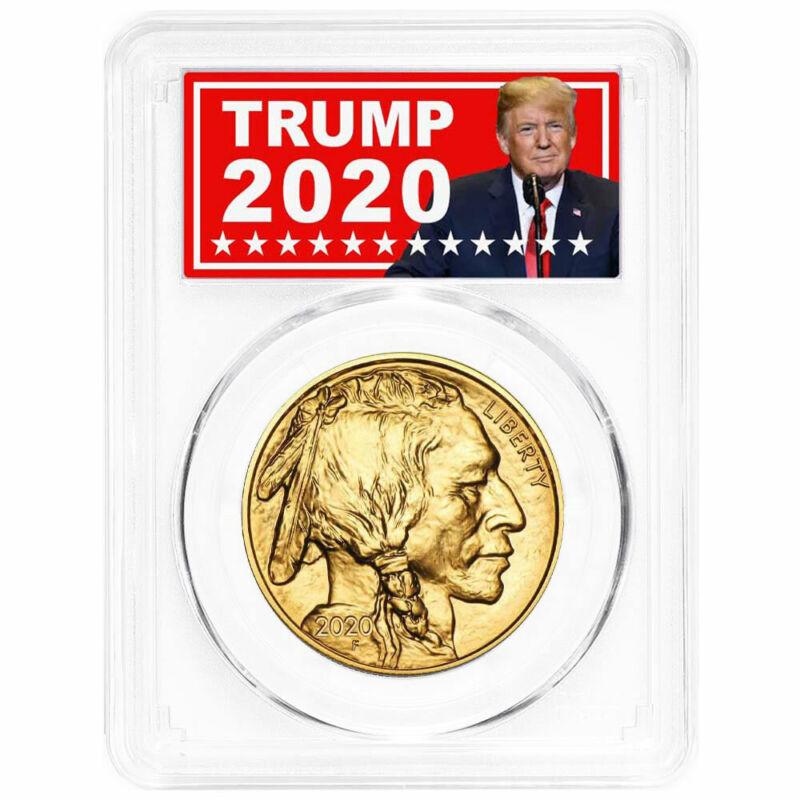 2020 $50 American Gold Buffalo PCGS MS70 Trump 2020 Label