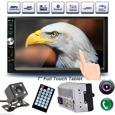 2 DIN 7inch Car MP3 MP5 Player TV FM Bluetooth Touch Screen Stereo Radio Camera