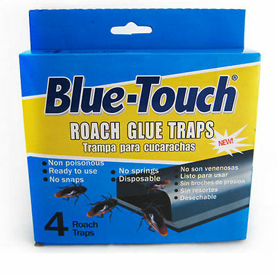 4 Roach Glue Traps Board Pest Insect Rodent Bugs Killer Control Cockroach Catch