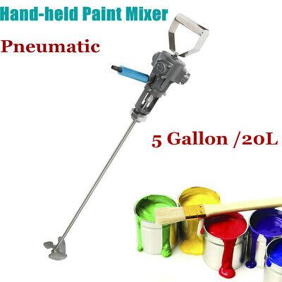 5 Gallon Handheld Pneumatic Paint Mixer Blender Stirrer Coating Mixing Machine