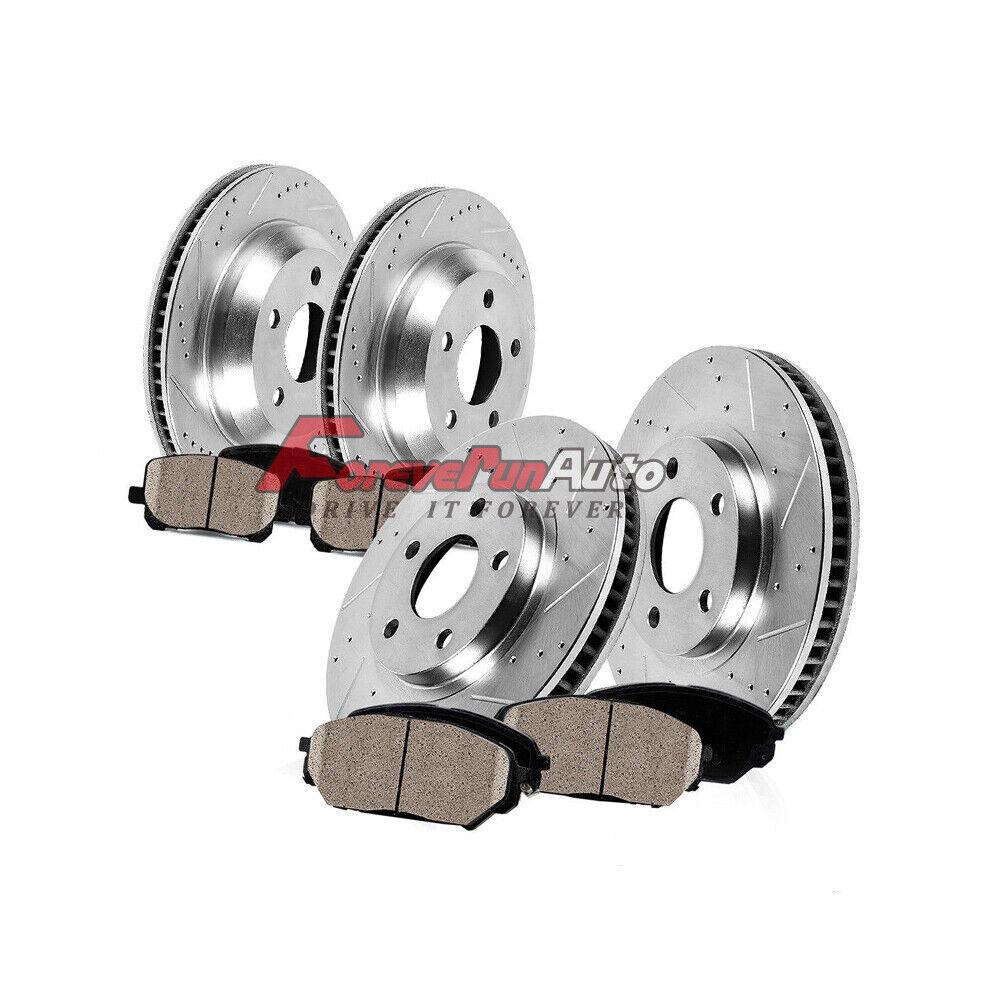 Car Parts - Front+Rear Brake Rotors +Ceramic Pads For 2010 2011 2012 - 2015 Chevy Camaro