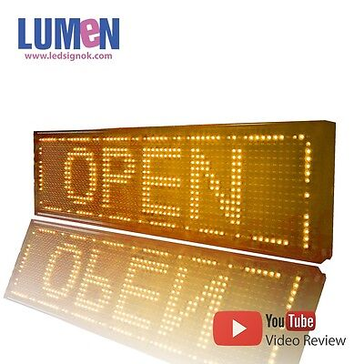 8 X 27 Yellow Indoor Programmable Led Scrolling Sign Message Window Display