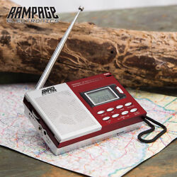 9-Band Digital Worldwide Radio AM/FM Alarm Clock Camping Mini Portable w/ Strap