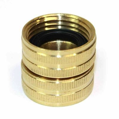 Brass 34 Ght Female X 34 Ght Female Water Hose Swivel Fitting Connector
