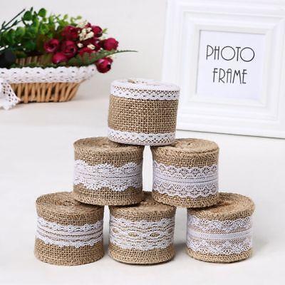 DIY Supply Wedding Hessian Edge Lace Ribbon Sisal Trim Jute Burlap