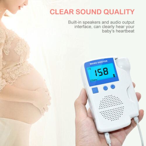 US Prenatal Fetal Monitor Ultrasonic Detector Baby Heartbeat Monitor