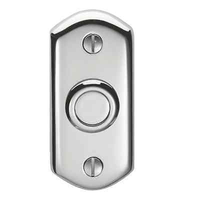 Carlisle Brass Shaped Bell push Door Bell 74x35 Polished Chrome AQ31 Carlisle Bell
