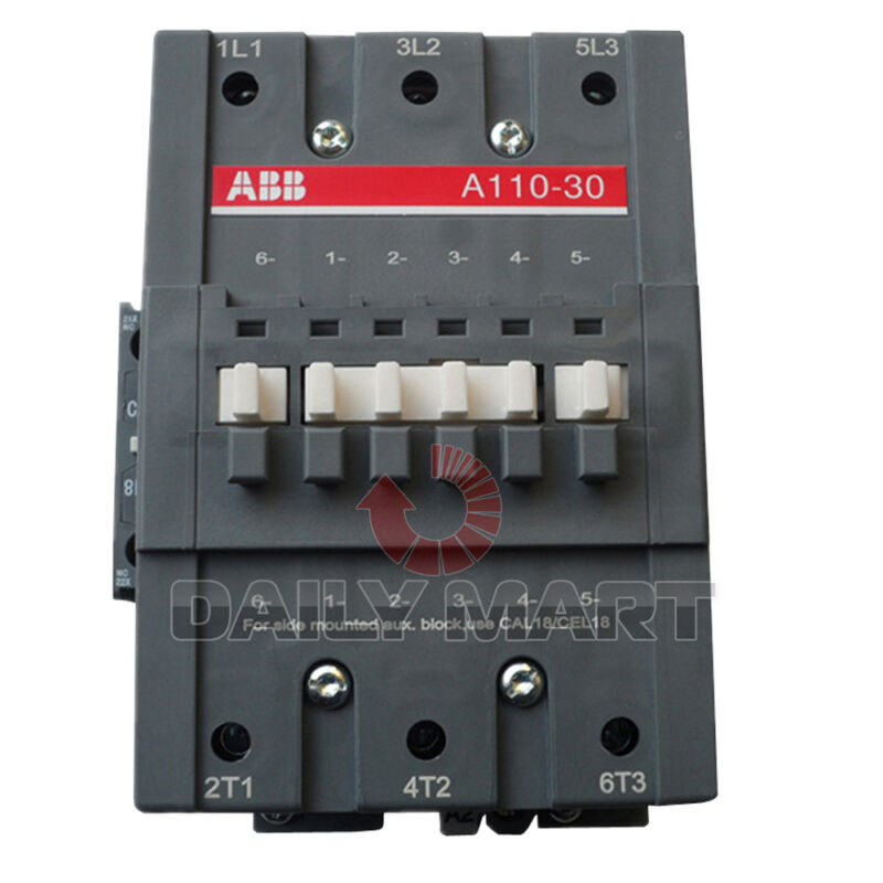 ABB CONTACTOR A110-30-11 24V 48V 110V 220V 380V PLC NEW IN BOX