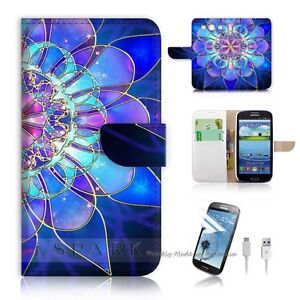 Samsung Galaxy S3 Flip Wallet Case Cover! S8274 Abstract
