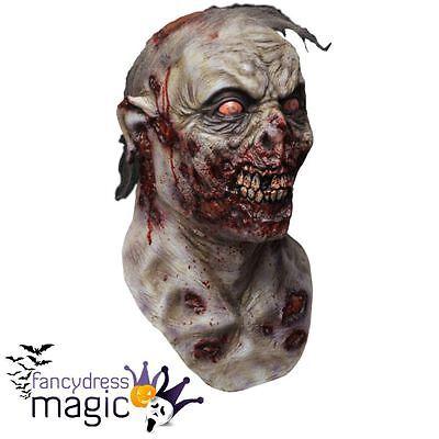 Deluxe Scary Zombie Roamer Walking Dead Halloween Horror Film Costume Latex Mask