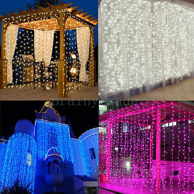 1800 LED Fairy Curtain String light for Xmas Christmas Wedding Party Connectable](Light For Party)