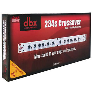 DBX 234S Professional Crossover Stereo 2 / 3 Way, Mono 4 Way MINT + Warranty