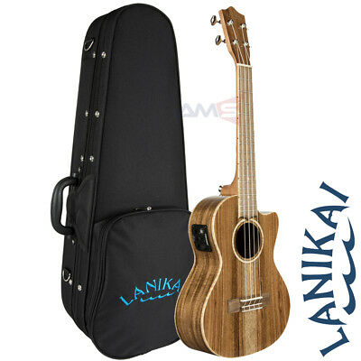 Lanikai ACS-CET ALL SOLID Acacia Series Tenor Acoustic Electric Ukulele + Case
