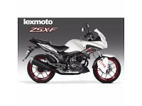 Just arrived lexmoto zsx -f125 white and black in stock £1999