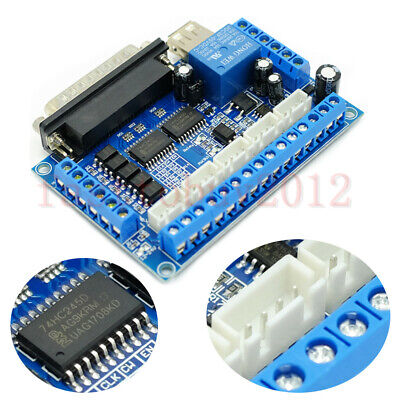 5 Axis Mach3 Cnc Interface Breakout Board For Stepper Motor Driver Cnc Router